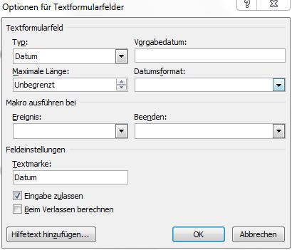 Word] Formularfeldinhalte wiederholen – olivergast.de