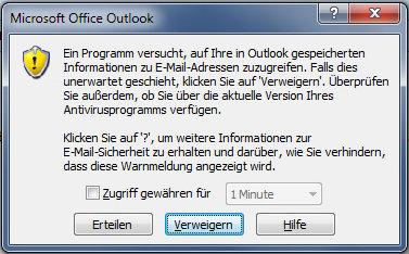 links outlook 2010 funktionieren nicht