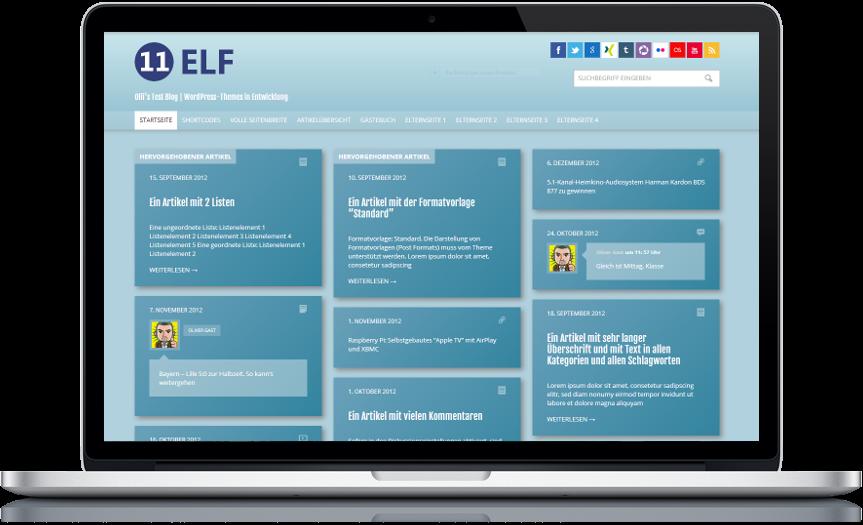 Kachel design  WordPress] Theme 'ELF' – Kachel-Design ist In – olivergast.de