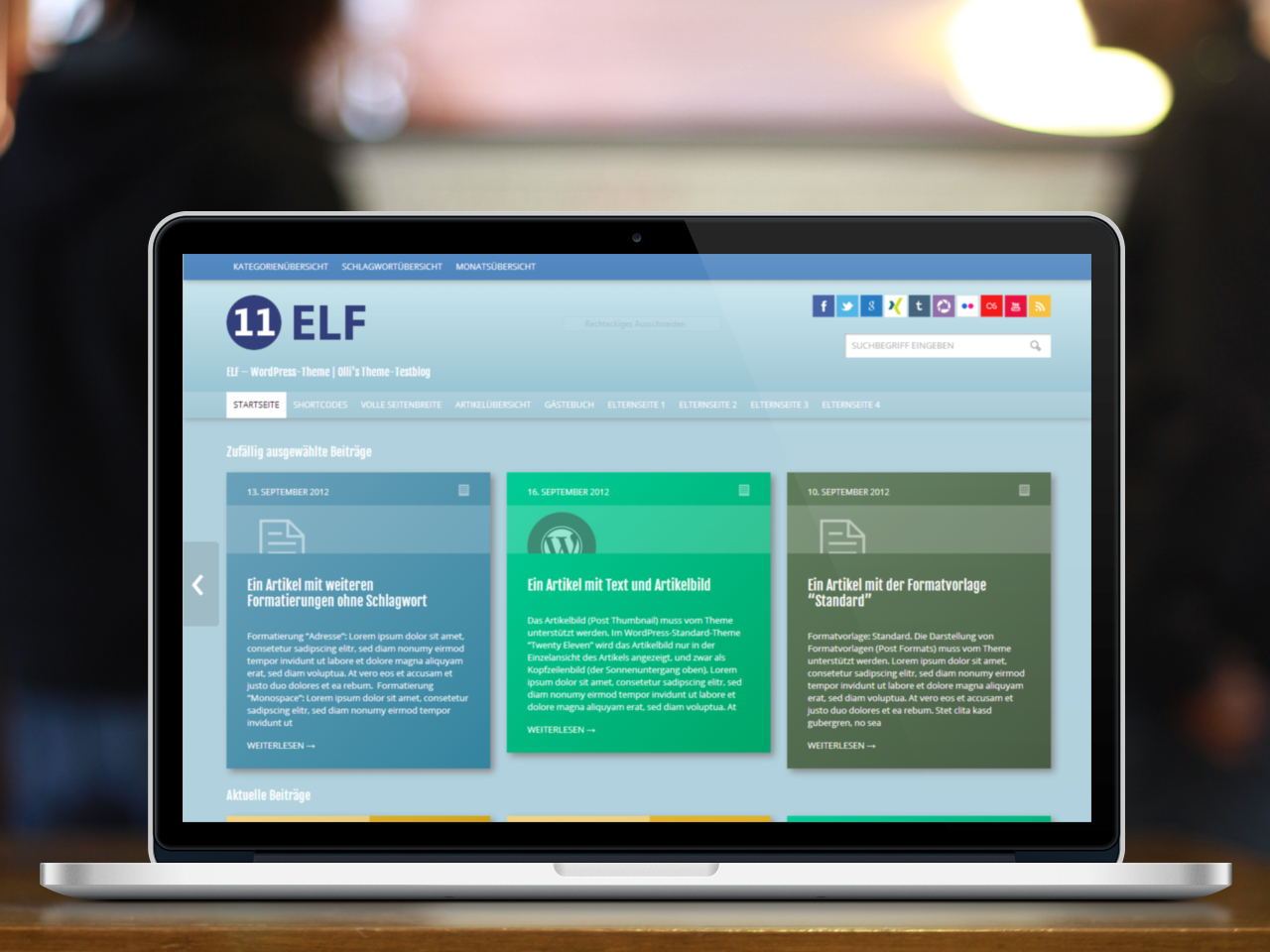 WordPress Theme 'ELF'