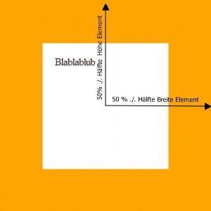 Horizontal und vertikal zentriertes Element