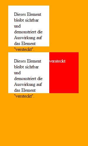 """Element ausgeblendet mit """"z-index"""""""
