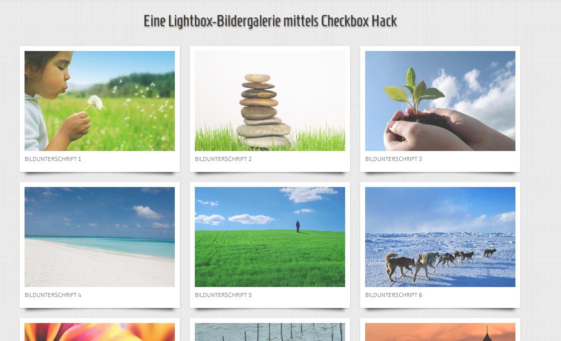 Bildergalerie mittels Checkbox-Hack