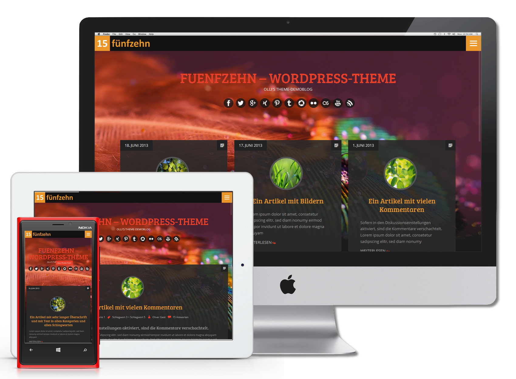 WordPress Theme 'FUENFZEHN'