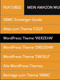 Menüpunkt mit spezieller CSS-Klasse