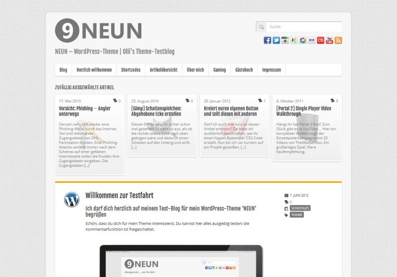 WordPress Theme 'NEUN'