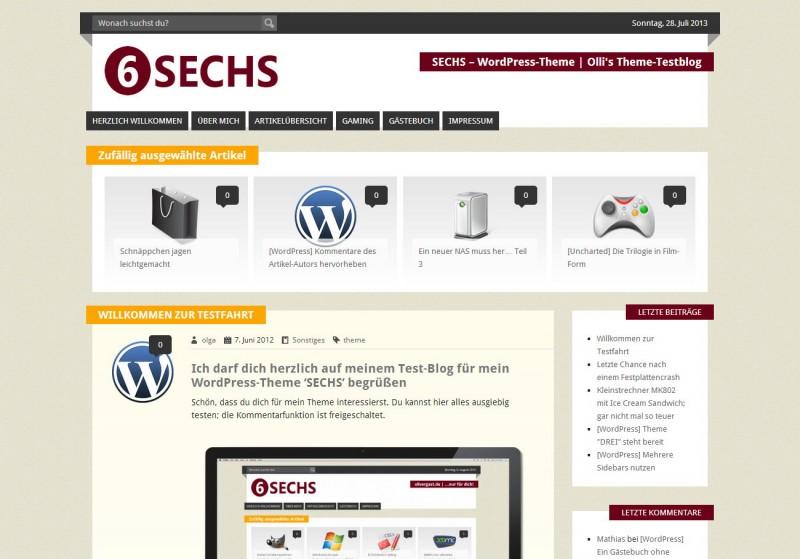 WordPress Theme 'SECHS'
