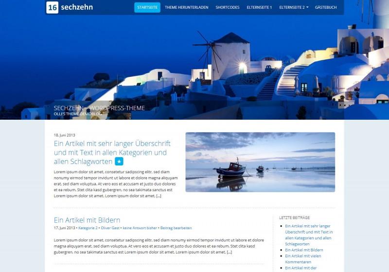WordPress Theme 'SECHZEHN'