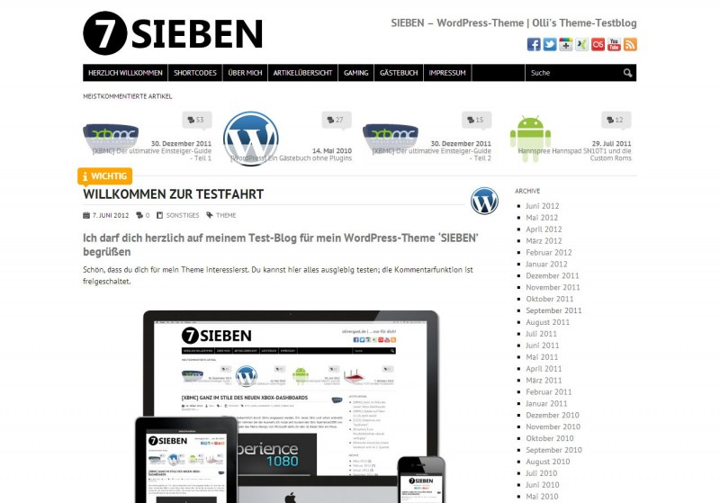 WordPress Theme 'SIEBEN'