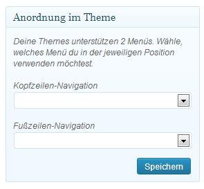 WordPress-Menüs aktiviert