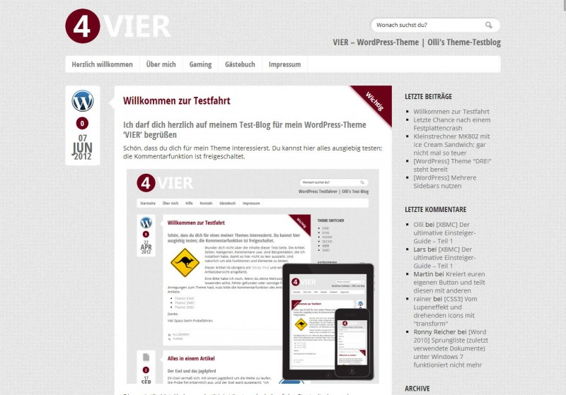 WordPress Theme 'VIER'