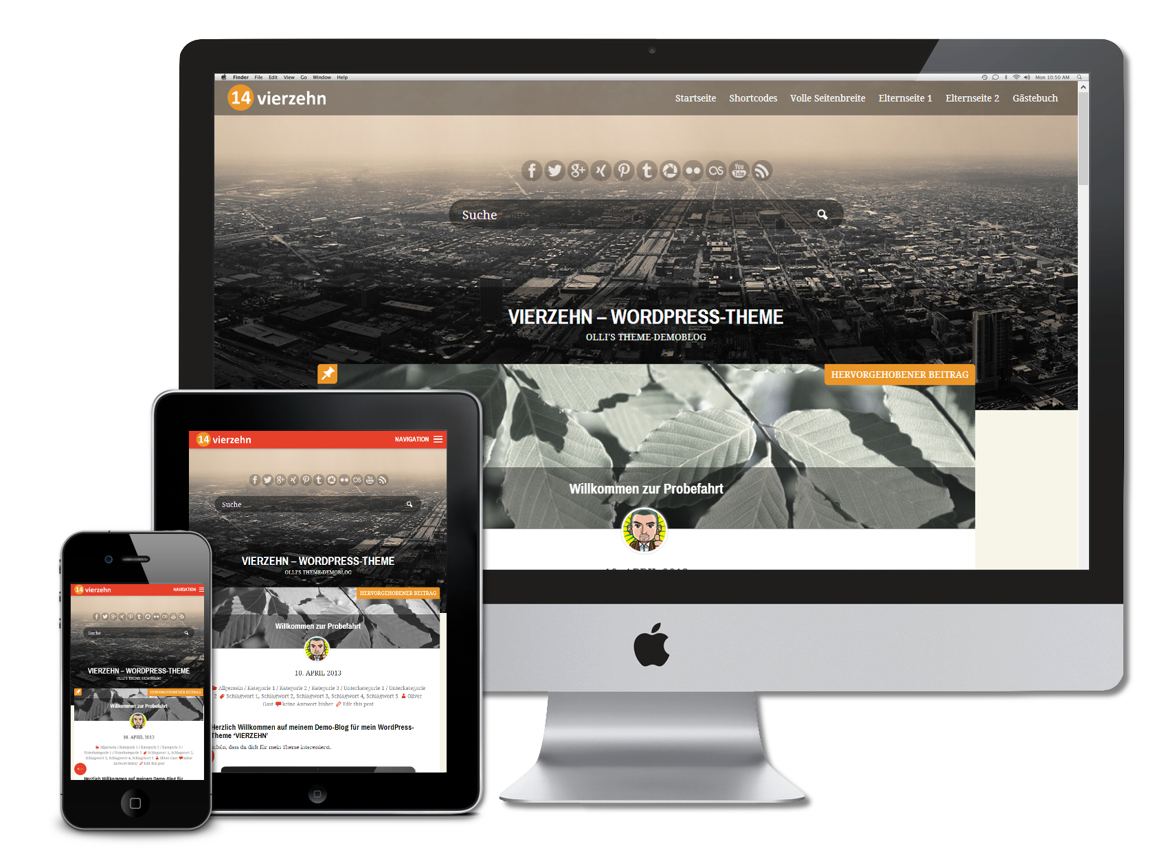 WordPress Theme 'VIERZEHN'