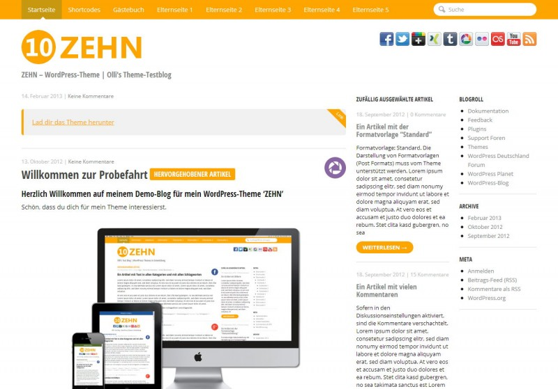 WordPress Theme 'ZEHN'