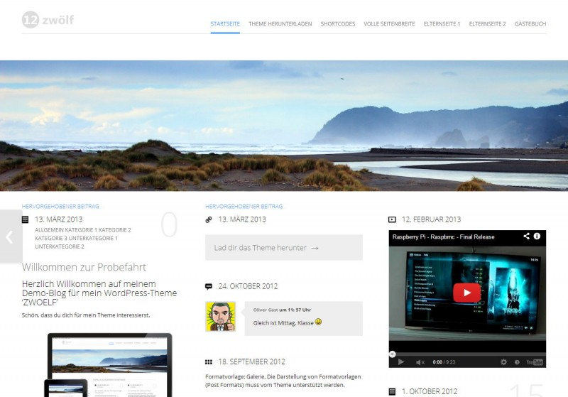 WordPress Theme 'ZWOELF'