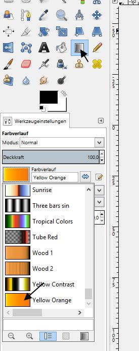 Einstellungen Farbverlauf