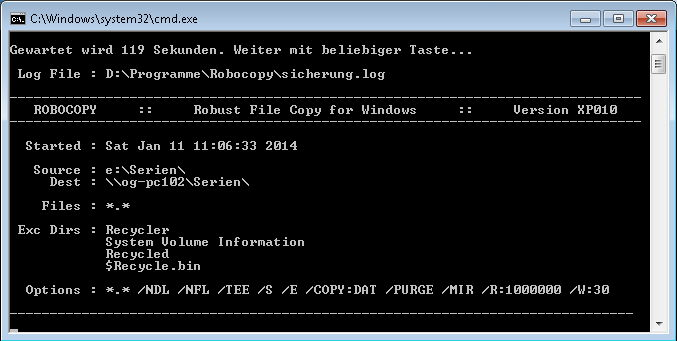 "Windows-Tool ""Robocopy"""