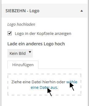 Logo hochladen oder auswählen