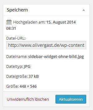 Medien-Informationen mit Datei URL