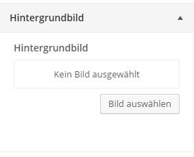 WordPress Theme-Customizer Hintergrundbild einstellen