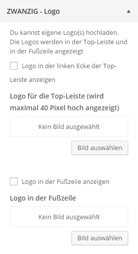 WordPress Theme-Customizer Logo einstellen
