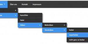 CSS Dropdown-Menü